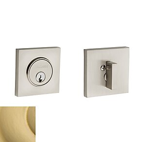 Contemporary Square Single Cylinder Deadbolt by Baldwin