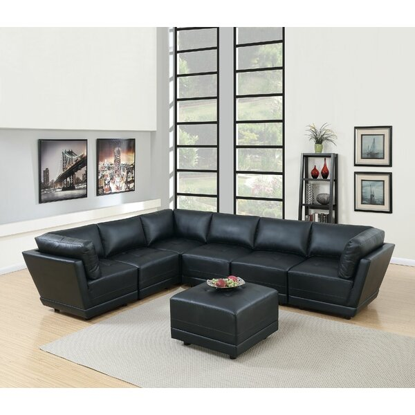 Williford Right Hand Facing Modular Sectional With Ottoman By Orren Ellis
