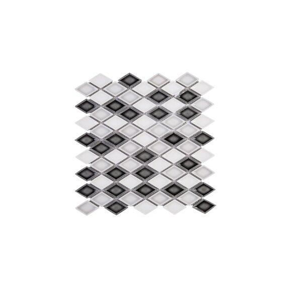 Handmade Diamond 1.5 x 1.5 Porcelain Tile in Black/Gray by Multile