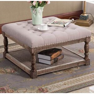 Cairona Tufted Shelved Ottoman by Warehouse of Tiffany