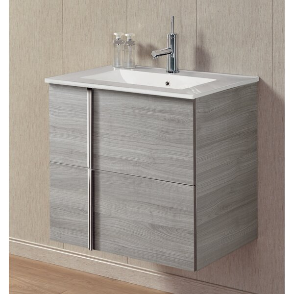 Miguel 24 Wall-Mounted Single Bathroom Vanity by Orren Ellis