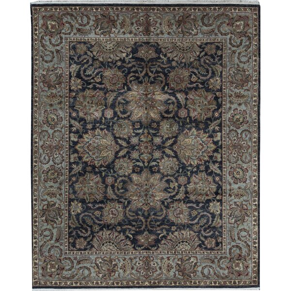 Oriental Hand-Knotted 8.2' x 10.1' Wool Black/Green Area Rug