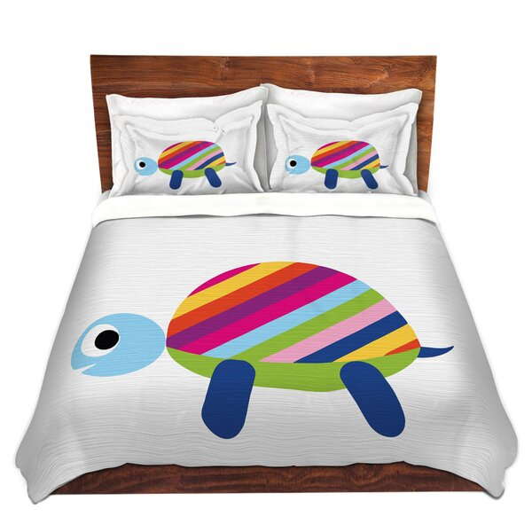 Rainbow Turtle Duvet Cover Set