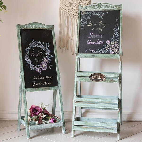Garden Chalk Board Easel by G Home Collection
