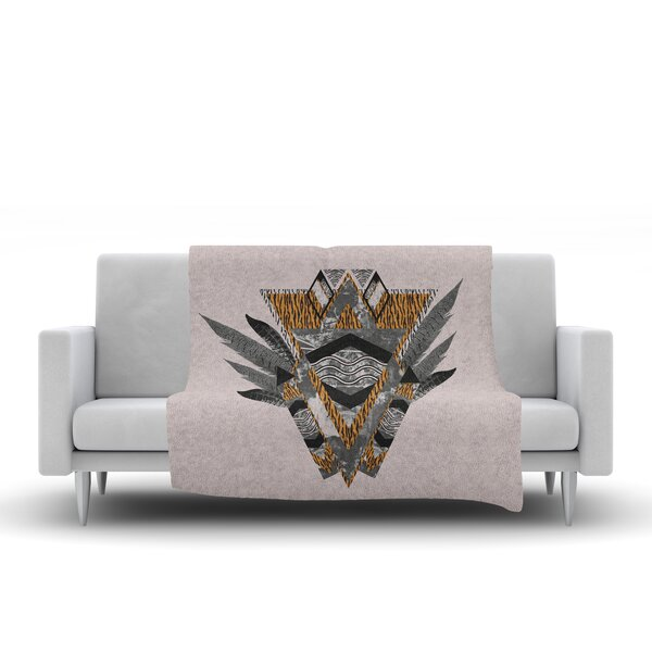 Indian Feather Throw Blanket by KESS InHouse