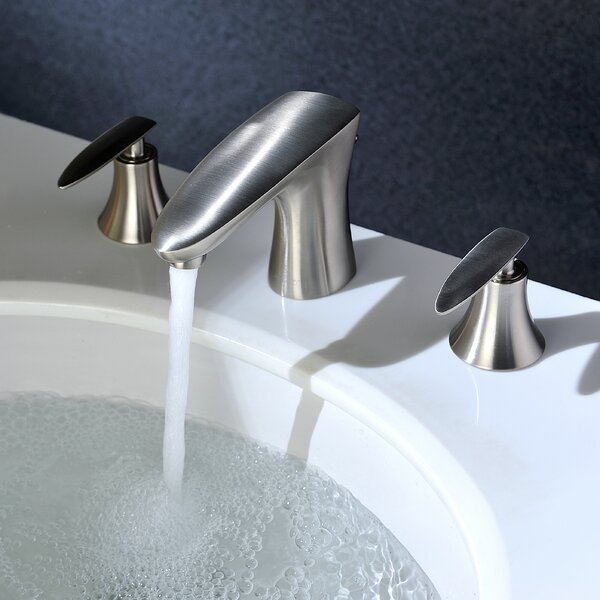 Chord Widespread Bathroom Faucet with Drain Assemb