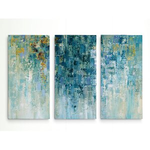 'I Love the Rain' Acrylic Painting Print Multi-Piece Image on Gallery Wrapped Canvas by George Oliver