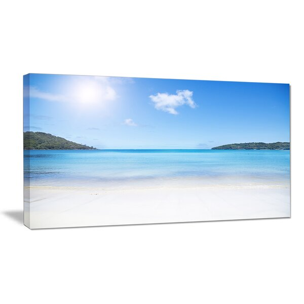 Calm Beach of Azure Indian Ocean Photographic Print on Wrapped Canvas by Design Art