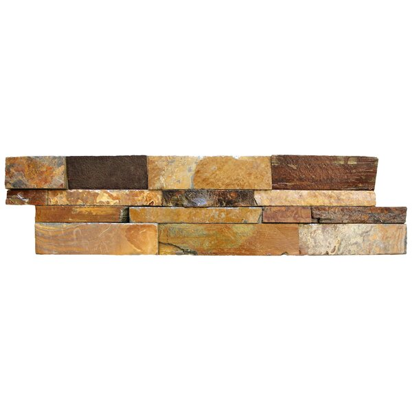 6 x 24 Natural Stone Splitface Tile in Brown by MSI