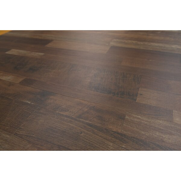 Porto 9 x 48 x 8mm Driftwood Laminate Flooring in Dark Brown by Branton Flooring Collection