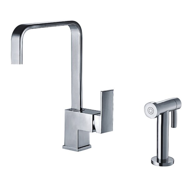 Jem Single Handle Kitchen Faucet with Side Spray by Whitehaus Collection