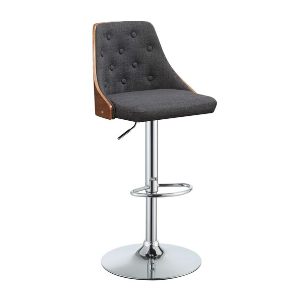 Goodrum Adjustable Height Swivel Bar Stool by George Oliver