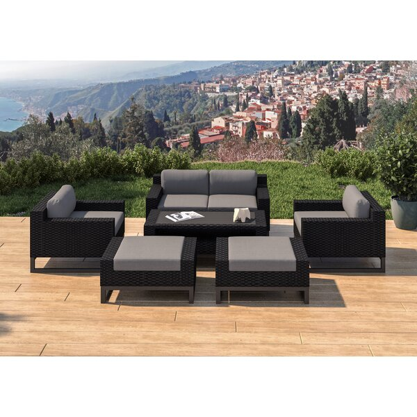 Santino 7 Piece Rattan Sofa Seating Group with Cushions by SunHaven