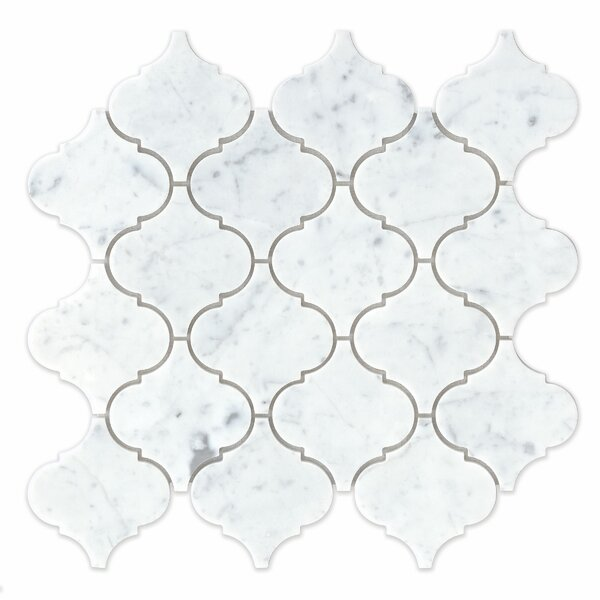 Marble Mosaic Tile in White Carrara by Grayson Mar