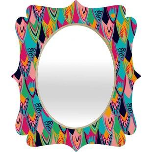 Deny Designs Vy La Love Birds 1 Quatrefoil Accent Mirror