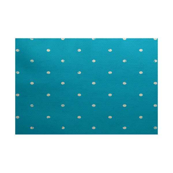 Golden Beach Turquoise Indoor/Outdoor Area Rug by Bay Isle Home