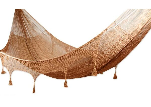 Triple Person Copper Filigree Tree Hammock by Novica