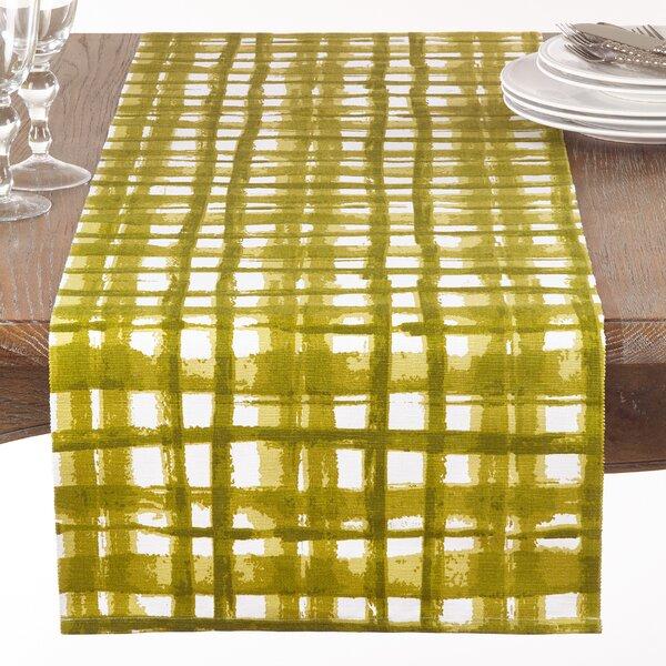 Glidden Cotton Basket Weave Print Table Runner by Ivy Bronx