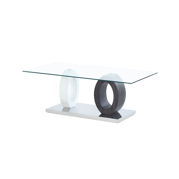 Spurlock Dual Oval Base Style Coffee Table by Orren Ellis