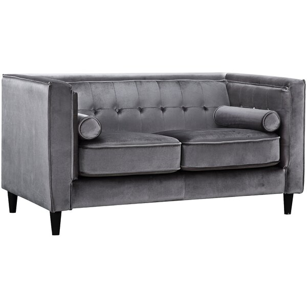 Best #1 Roberta Chesterfield Loveseat By Willa Arlo Interiors Purchase