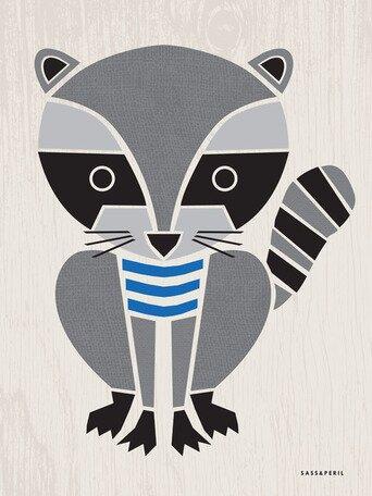Modern Animals Raccoon Canvas Art by Oopsy Daisy