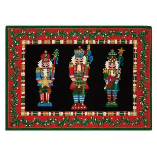 Mathes Nutcracker Pageantry Hand-Hooked Wool Red/Black Area Rug By The Holiday Aisle