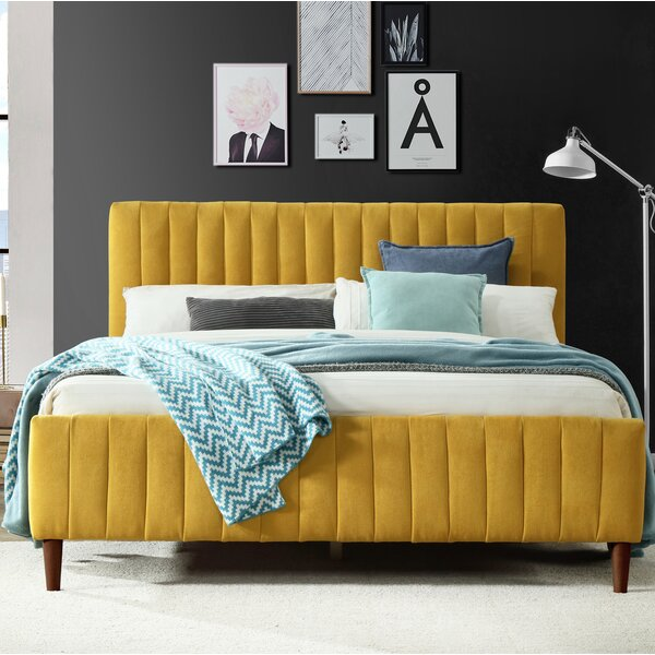 Currin Queen Upholstered Platform Bed by George Oliver