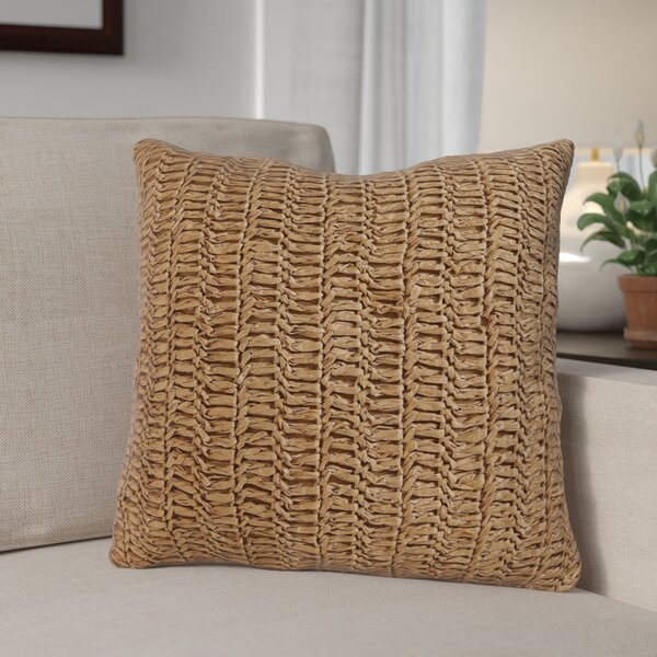Hamburg Decorative Cotton Throw Pillow in Raffia Kint by Beachcrest Home