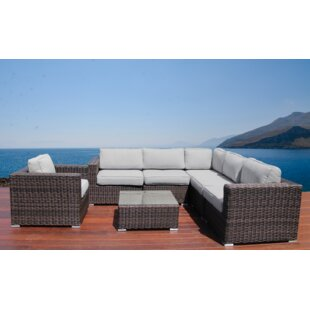 Whitmer 7 Piece Sectional Set with Cushions By Rosecliff Heights