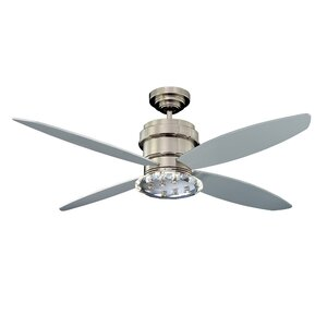 52″ Optica 4-Blade Ceiling Fan with Wall Remote