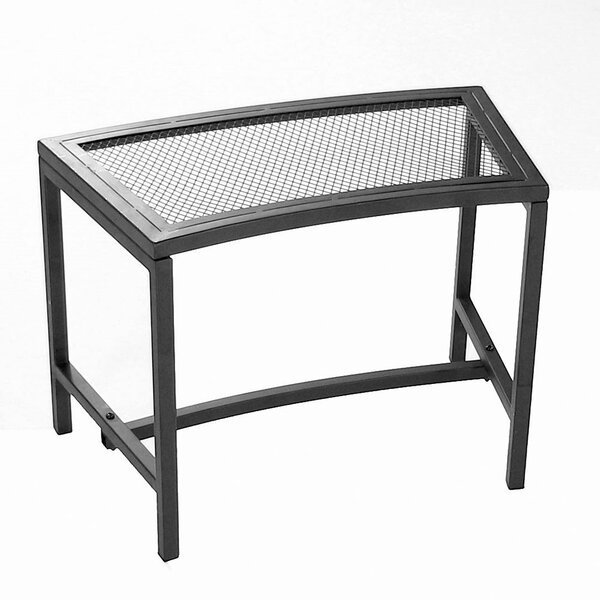 Odalis Mesh Metal Patio Fire Pit Bench by Freeport Park