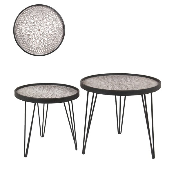 Coury 2 Piece Nesting Tables by Bungalow Rose Bungalow Rose