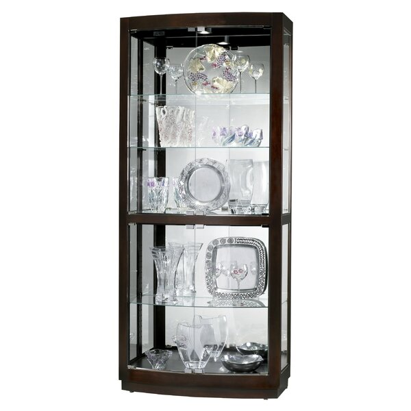 Breaux Lighted Curio Cabinet by Darby Home Co