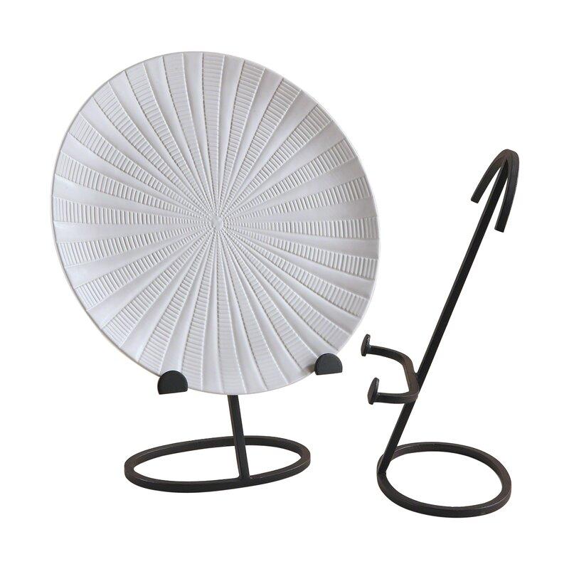Oval Shape Iron Plate Stand  sc 1 st  Wayfair & Global Views Oval Shape Iron Plate Stand \u0026 Reviews | Wayfair