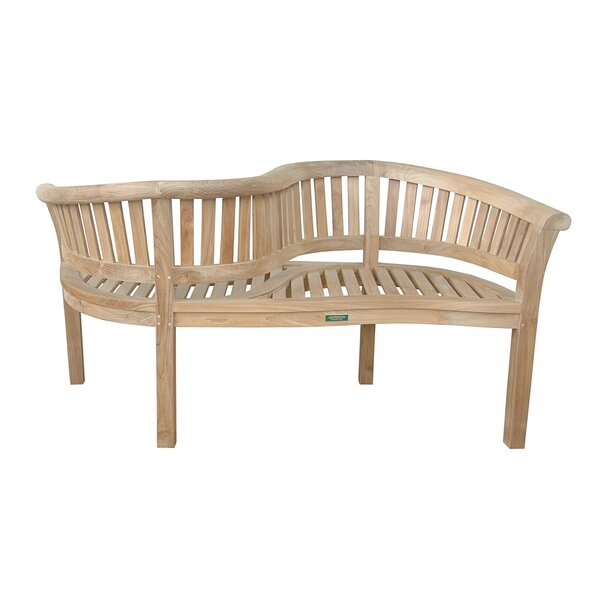 Bourdeau Teak Garden Bench by Freeport Park