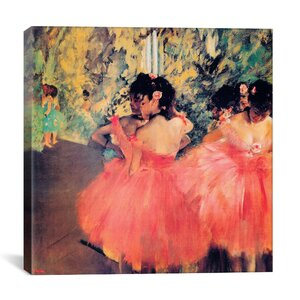 'Ballerina in Red' by Edgar Degas Print by East Urban Home