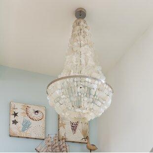 Capiz shell chandelier wayfair manor capiz seashell 3 light empire chandelier mozeypictures Gallery