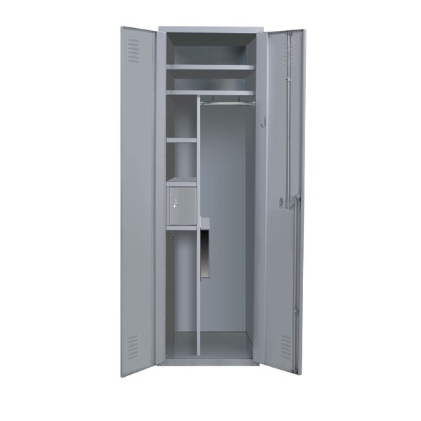 Welded 3 Tier 1 Wide Storage Locker by Hallowell