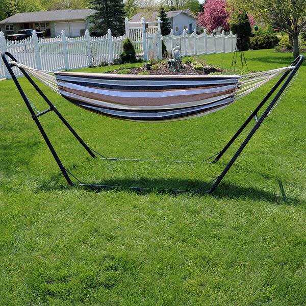 Poirier Cotton Double Hammock with Stand by Bay Isle Home