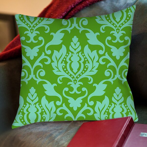 Francie Damask Printed Throw Pillow by Manual Woodworkers & Weavers
