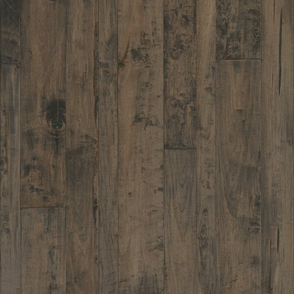 Antigua Random Width Engineered Shiranga Hardwood Flooring in Obsidian by Mannington