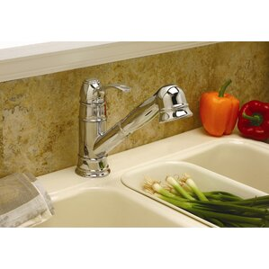 Premier Faucet Wellington One Handle Centerset Pull-Out Kitchen Faucet