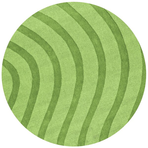 Transitions Light Green Waves Rug by St. Croix