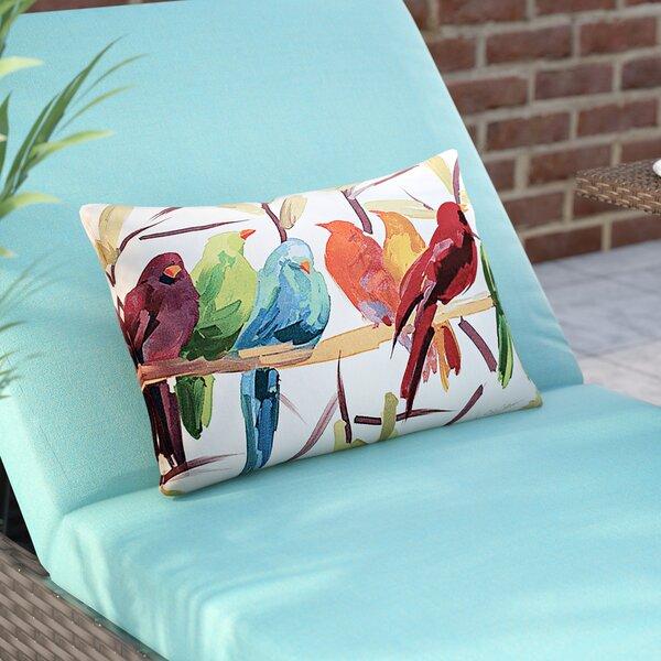 Thornaby Flocked Together Birds Indoor/Outdoor Lumbar Pillow by Brayden Studio