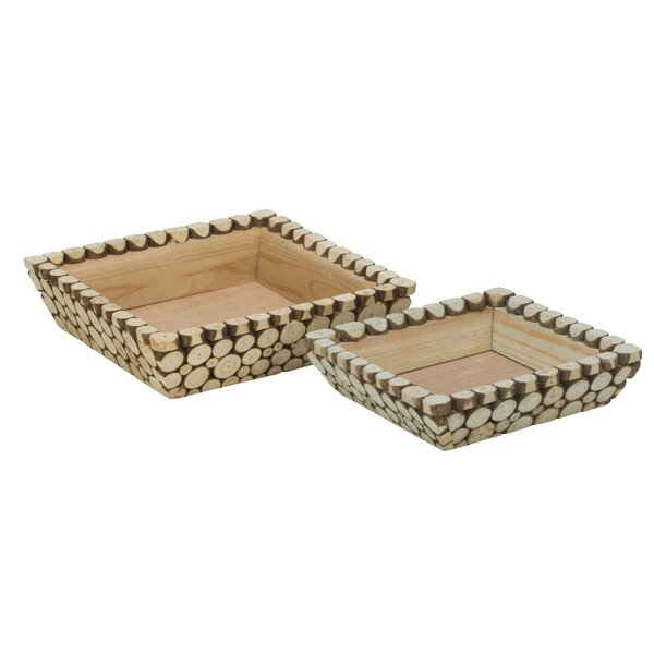 Woolard 2 Piece Accent Tray Set by Millwood Pines