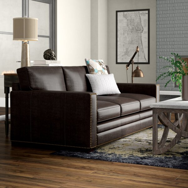 Neil Leather Sofa by Trent Austin Design