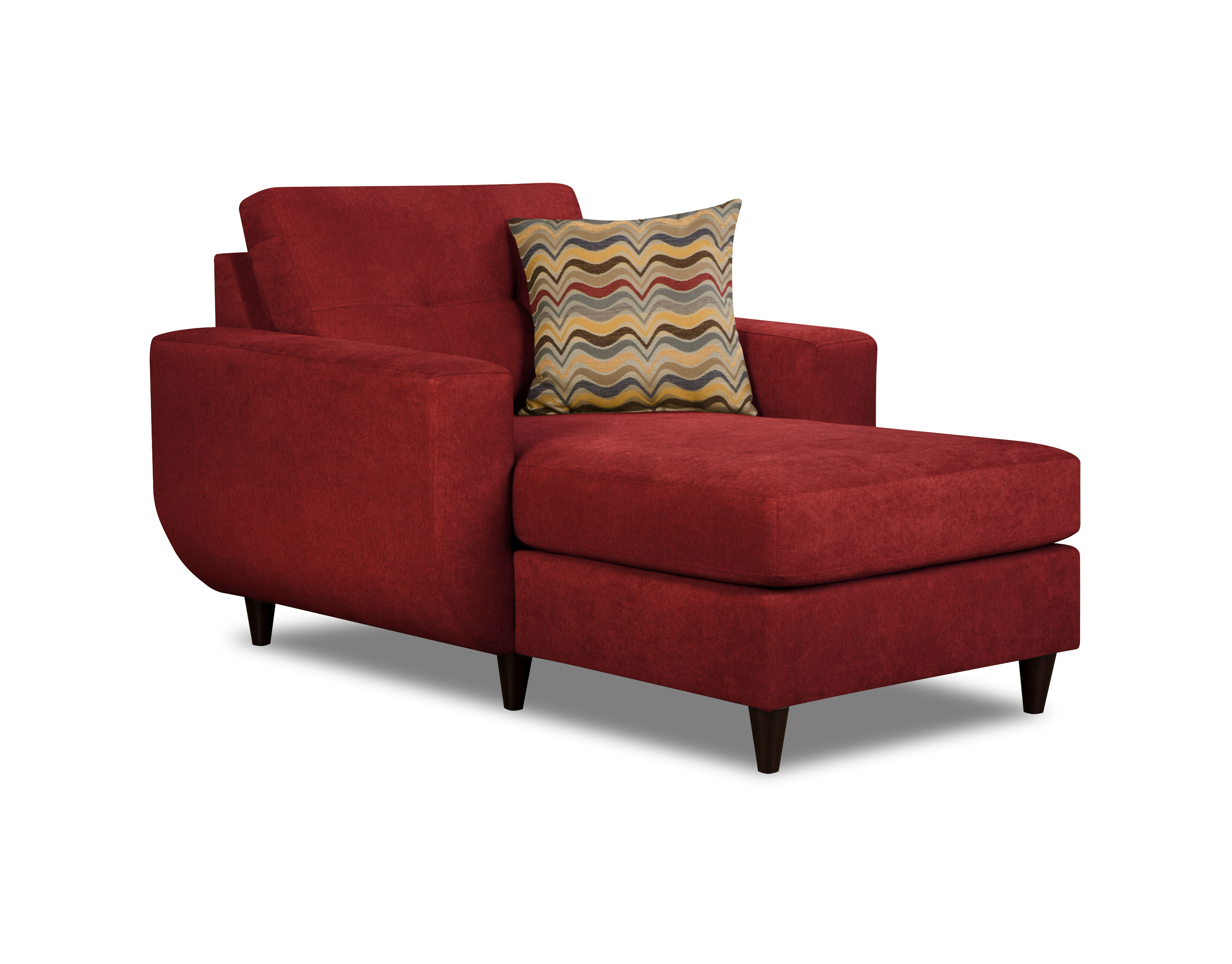 cushion garden overstock free home wicker red jeco shipping product lounge today chaise patio