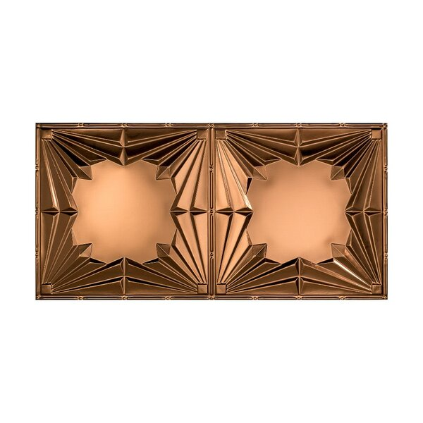 Art Deco 2 ft. x 4 ft. Glue-Up Ceiling Tile in Oil Rubbed Bronze by Fasade
