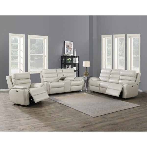 Lavida Duval Power Leather Reclining Configurable Living Room Set By Latitude Run