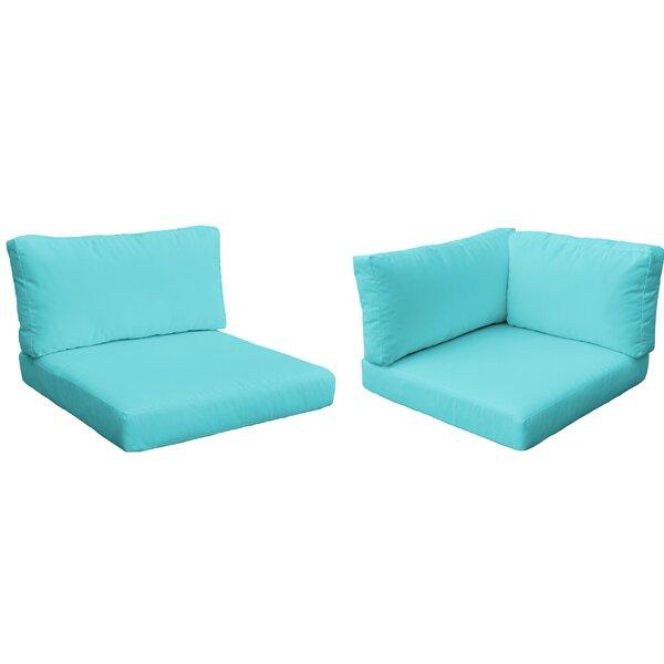 Monaco Outdoor 17 Piece Lounge Chair Cushion Set by TK Classics